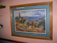I have in Mint shape,a Big Horn Sheep print by Hayden