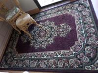 * Rug ... 87x63 Persian concord. $80.00. * Iron/glass