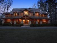 Big Pine Lodge is a custom built log home constructed