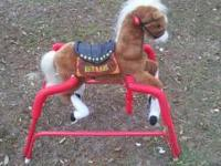 Good condition ridable stationary horse 45 dollars.