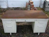 Big steel desk for sale in good condition. 5 feet long,