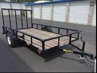 "For sale, Big Tex 35SA-12 77"" X 12' trailer with rear"