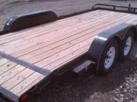 This is a new 18 ft bed Big Tex car trailer with