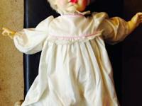 This is an antique, one-of-a-kind Thumbelina doll made