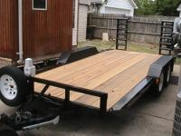 LIKE NEW 7,000.00 LB FLATBED CAR HAULER WITH DOVE TAIL,
