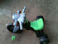 Big wheel trike perfect for ~ 2-4 yr olds. Black/green,