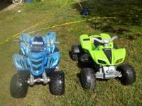 I have two 12 volt 4 wheelers for sale. They are in