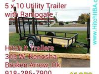 Big Tex 30SA 5' x 10' Utility Trailer w/ Ramp 30SA