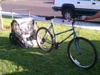 Schwinn mountain bike and In-Step trailer - You and