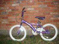 The bike is a girls magna bike, it has 20 in. rims and