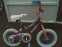 Kids bike Pink and Purple with white tires (training