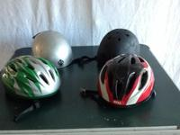 3 BIKE HELMETS - YOUTH AND ADULT SIZES - $5  EA