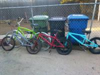 HELLO, IM SELLING THIS 4 BIKES BECAUSE I NEED THE SPACE