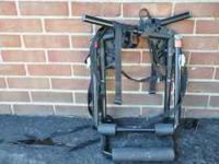 Trunk mount bike rack. Holds 2 bikes. $25.00. CALL .