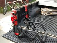 This is a bike rack that goes onto the back of a car or