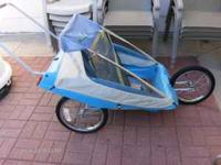 Can be used as three wheel stroller or two wheel bike