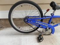 For sale - a blue, tagalong Streetster Cyclepro bike
