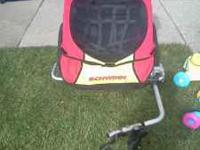 we have a 2 n 1 stroller. it is a bike trailer and a