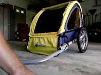 Good condition bike trailer seats 2 small children
