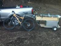 this bike trailer is up for sale... its lite, strong