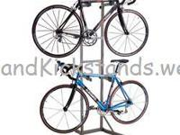 This freestanding, 2-bike, bicycle storage rack is