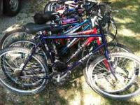 We have many bicycles for sale. We have both Girls and