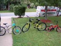 I have 2 kids bikes and 1 male bike for sale littler