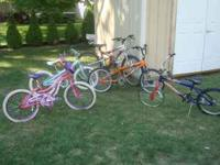 Have one mountain bike , twenty inch kids bike with