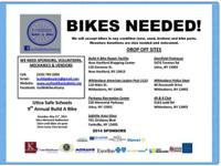 Bikes, bike parts and bike accessories are needed for