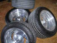 "These are in new condition, 16"" x8 front, 16x10 rear,"