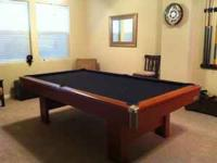 Brunswick Bristol Contender Pool Table - approx 5 years