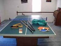 Billiard Table equipped with a ball return that also