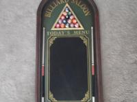 Swimming pool table sign or plaque chalkboard for