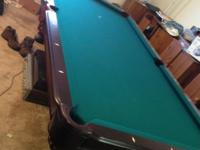 1 Regulation Pool Table 8' by 4 ' (8ft by 4 ft) gently