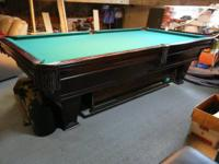 brunswick, ventura 9' billiards/pool table with all