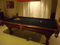 World of Leisure 8' Slate Pool Table Finish: Cherry