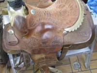 "For sale is a Billy Cook 15-1/2"" Roping Saddle. It is"