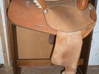 Used - Natural Color Barrel Racing Saddle Minimal wear,