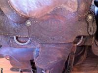 1974 Billy Cook Trophy Saddle good to fair condition