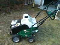 Billy Goat lawn aerator. 5 years old. Purchased for