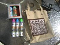 BINGO Bag and 5 Markers Comes with 3 Lucky Duck markers