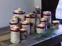 Birch candle holders, harvested from my uncle's farm in