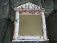 Quality birch handmade mirror call  ask for Woody