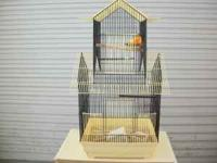 """nice bird cage 16"""" wide 14"""" deep and 32"""" high asking"""