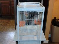 I have a small bird cage that housed a quaker parrot