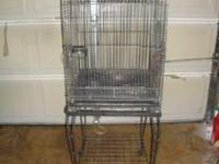 Sturdy wroth-iron cage ideal for smaller parrots (ie