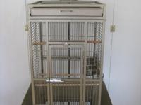 Bird Cage- measurements are 18w x 18d x 57h Bar spacing
