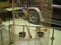 all size bird cages small one 10.00 med. one with stand
