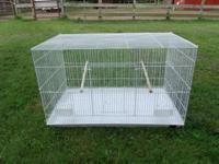 White Breeder cages for sale 18x30 large with dishes