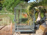 UTILIZED BIRD CAGES, SOME RUST, BUT VERY STRONG. 1 CAGE